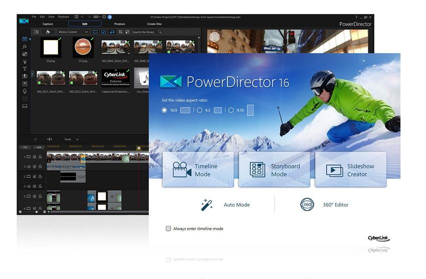 Cyberlink PowerDirector 16 Ultimate - best video editing software for windows