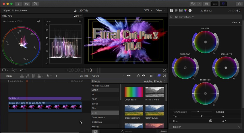 Final Cut Pro X - video editing software for mac