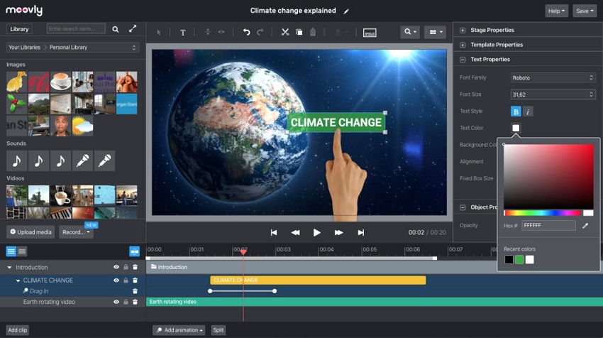 Moovly - Best video editing software